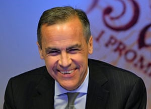 Bank of England Governor Mark Carney smiles during the bank's quarterly inflation report news conference at the Bank of England in London, Wednesday, Nov. 13, 2013.