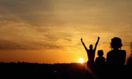 Motivation in sunset