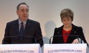 Alex Salmond and Nicola Sturgeon at the Scottish independence white paper launch on 26 November 2013