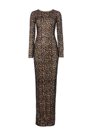 Party dresses update: Sequin lace maxi