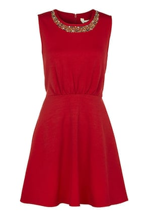 Party dresses update: Red embellished skater dress, £58, yumidirect.co.uk