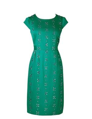 Party dresses update: Embellished green shift, £119.20, boden.co.uk