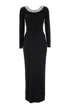 Party dresses update: Embellished neckline maxi dress, £40, wallis.co.uk