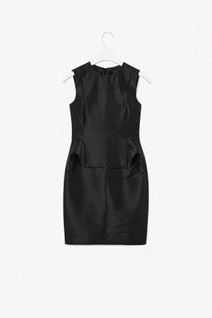 Party dresses update: Black silk mix dress, £89, cosstores.com