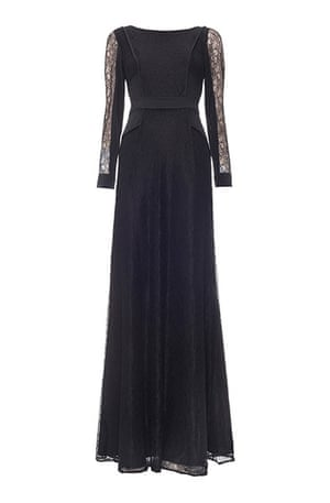 Party dresses update: Maxi lace sleeve evening dress, £295, whistles.co.uk