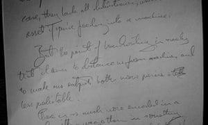 Andrew Brown's handwriting