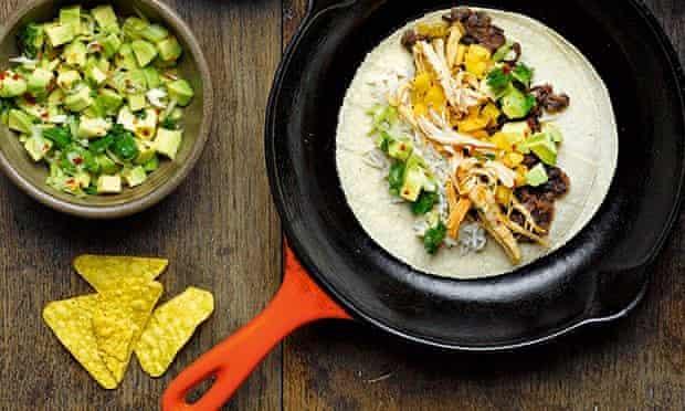 Food advent turkey tacos