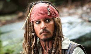 Johnny Depp in Pirates Of The Caribbean: On Stranger Tides