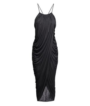 party dresses: Party dresses - strappy draped black dress by h&m