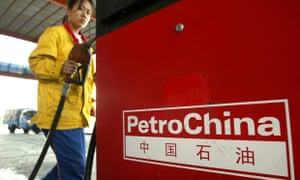 A PetroChina gas station attendant in Be