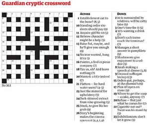 Araucarias First Guardian Crossword From 1958