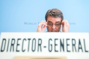 World Trade Organization, WTO, Director General Roberto Azevedo, of Brazil, speaking to the media in Geneva, Switzerland, today.  EPA/SALVATORE DI NOLFI