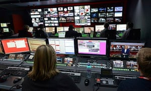 New BBC studios - brand newsroom
