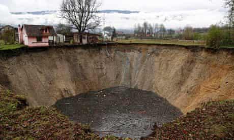 Bosnia sinkhole