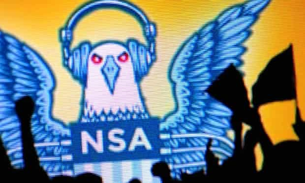 Students protest against the NSA.