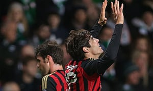 AC Milan's Kaká celebrates the reuniting of Deacon Blue.