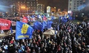 Ukrainians in rally demanding EU pact