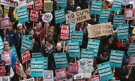 Thousands Of Students March In Support Of Education And The Welfare State