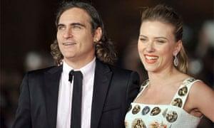 Scarlett Johansson and Joaquin Phoenix at premiere of Her