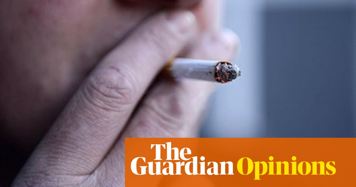 Smoking outside the hospital is a break for patients and