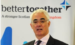 Alistair Darling, head of Better Together campaign
