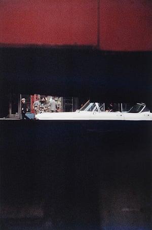 Saul Leiter: Through Boards, 1957