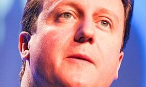 David Cameron, big close-up