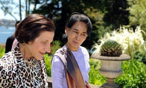 Aung San Suu Kyi with the governor-general of NSW, Marie Bashir, before Wednesday night's speech.