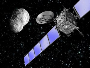 An artist's impression of ESA's Rosetta spacecraft
