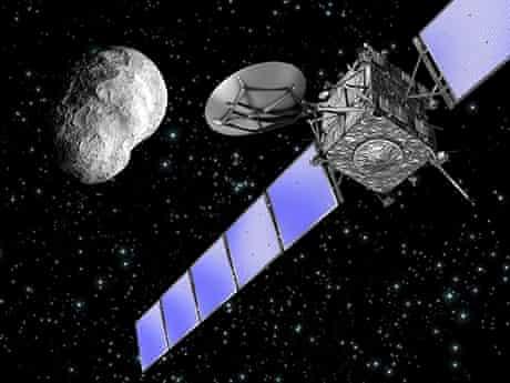 An artist's impression of ESA's Rosetta spacecraft