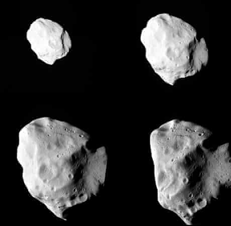 Asteroid Lutetia shot by the comet chaser, Rosetta