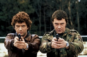 Lewis Collins: In his most famous role as Bodie in The Professionals in 1978 with Martin Shaw