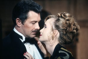 Lewis Collins: As Colonel Mustard with Lysette Anthony as Miss Scarlett in the gameshow Cluedo in 1992