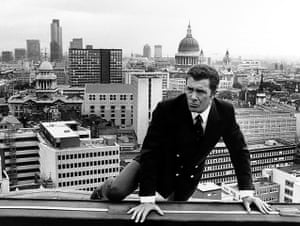 Lewis Collins: Practising stunts on a London rooftop for his role as Captain Skellen in Who Dares Wins