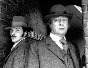 Lewis Collins: Michael Caine with Lewis Collins in the TV series Jack the Ripper in 1988
