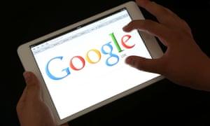 Google search on an iPad.