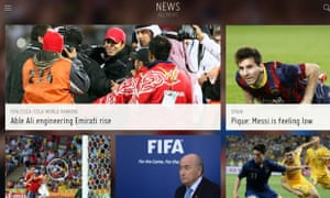 FIFA's official app is available for iPhone and iPad.