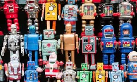 Robots, toy shop, Panjiayuan flea market, Chaoyang District, Beijing, China