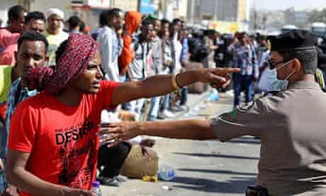 Ethiopian worker in Manfouha