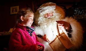 Father Christmas at The Eden Project