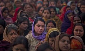 Indian women offer prayers for a gang rape victim New Delhi in January
