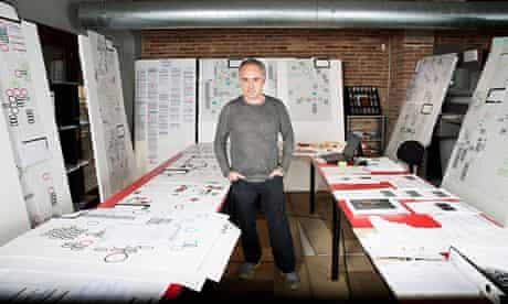 Ferran Adrià in the workshop where he and his team are creating the Bullipedia.