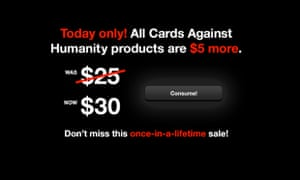 Black Friday Cards Against Humanity deal