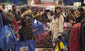 Shoppers at Toys R Us in Times Square in New York on Thanksgiving Day.