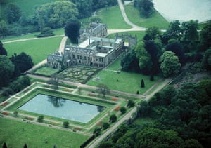 Byron: Aerial view of Newstead Abbey