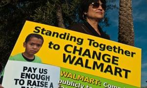 Black Friday demonstrations at Walmart