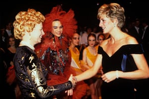 Vivienne Westwood: Princess Di and Vivienne Westwood at a RSPB Charity
