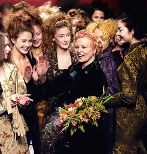 Vivienne Westwood: Designer Vivienne Westwood is applauded by her models