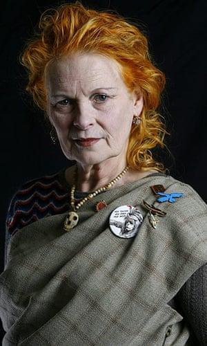Vivienne Westwood: Fashion Designer Vivienne Westwood in her studio