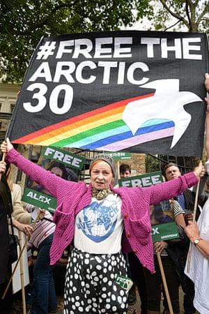 Vivienne Westwood: Vivienne Westwood at a Greenpeace protest